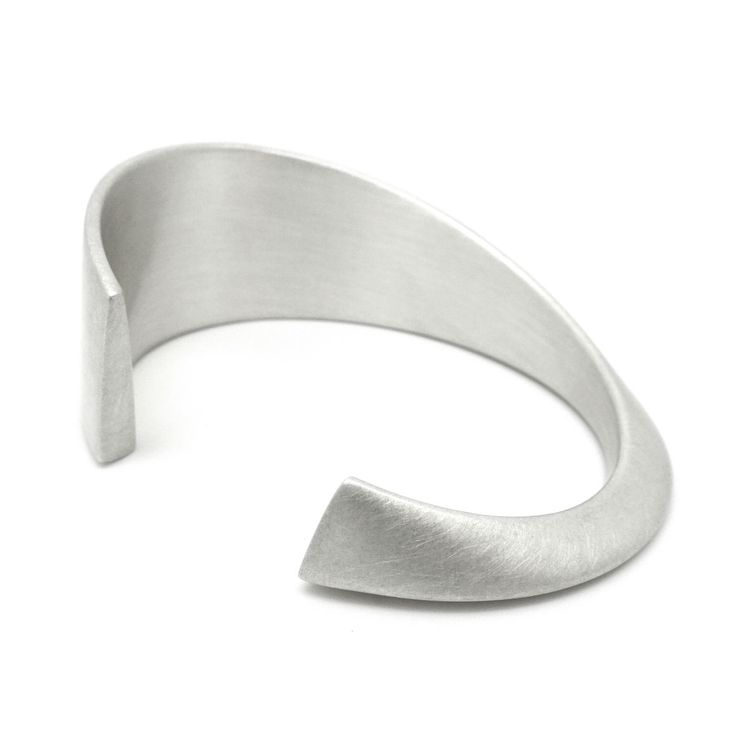 ORRO Contemporary Jewellery Glasgow - ORRO - Silver Horizon Cuff - Modern Silver Unisex Cuffs at ORRO by ORRO Jewellery Glasgow Scotland