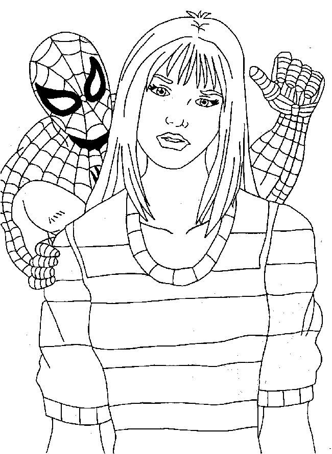 spiderman coloring pages 6