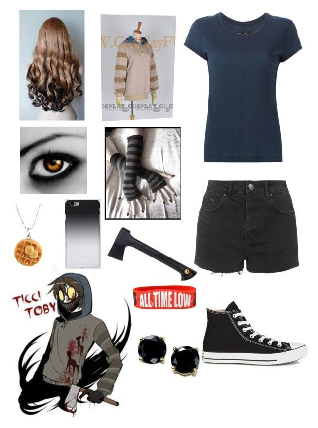 """Creepypasta: Daughter of Ticci Toby"" by ender1027 ❤ liked on Polyvore featuring rag & bone, Topshop, Converse, Fiskars, C6 and B. Brilliant"