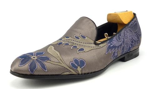 Gucci Mens Shoes Size 9, US 10 Satin Flowers Slip On Loafers 337030 Lilac #distinctivedeals #mensfashion