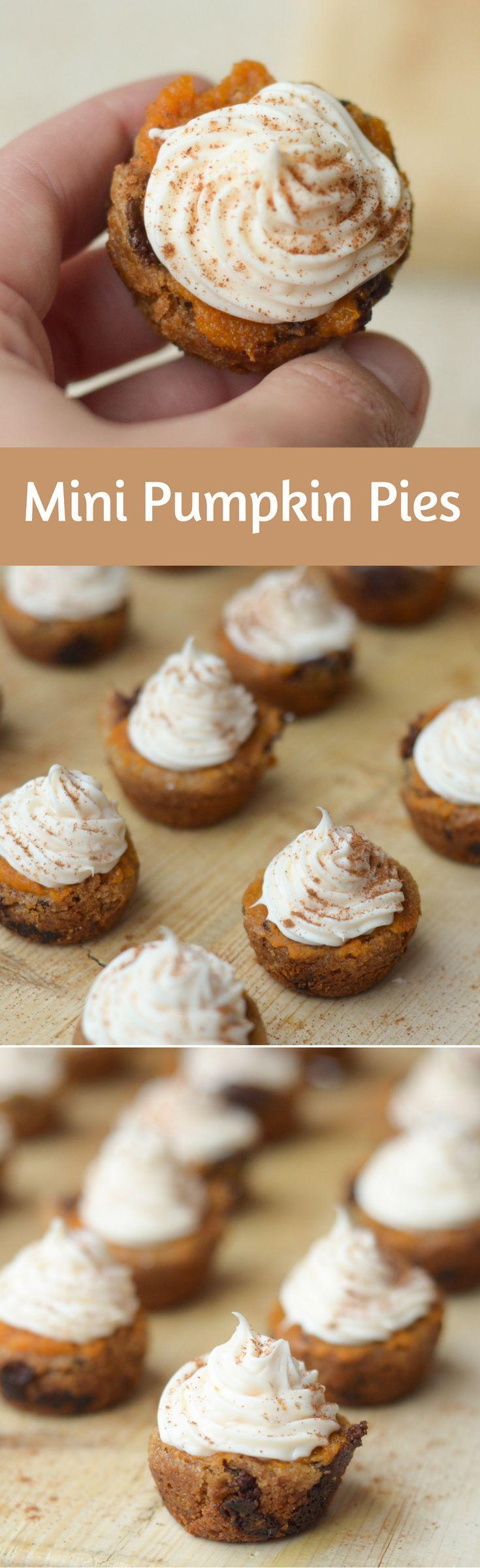 Gluten-Free Mini Pumpkin Pies #ad #immaculatebaking