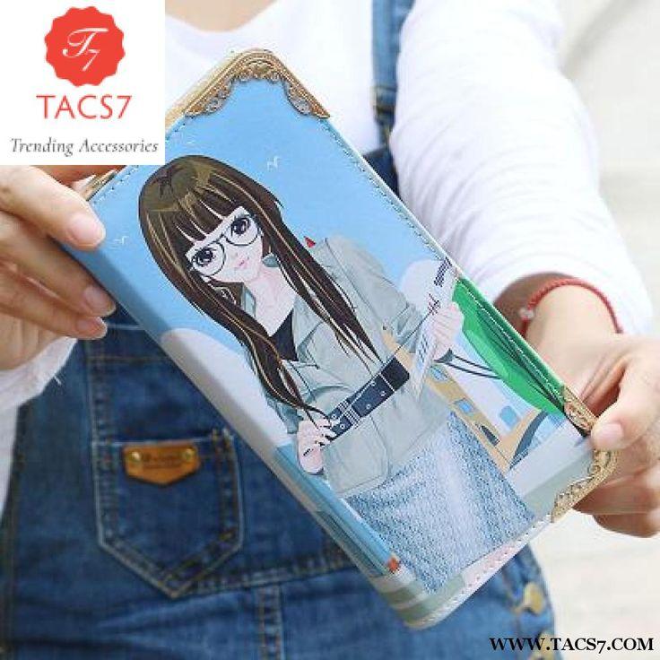 2018Style Cartoon Girls Clutch Wallets Lady PU leather Long Wallets Cute Beautiful Pattern Printing Cash Pocket Female Purse 896