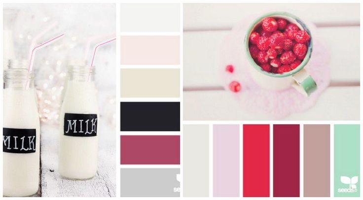mood board pour cuisine - le nuances baies rouges, blanc, noir et crème