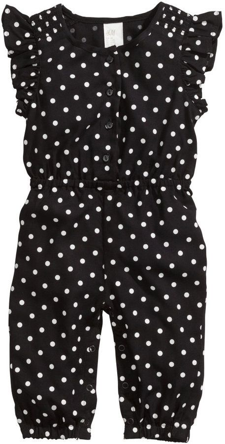 Polkadot Patterned Jumpsuit - so cute for a girl! #baby #kids