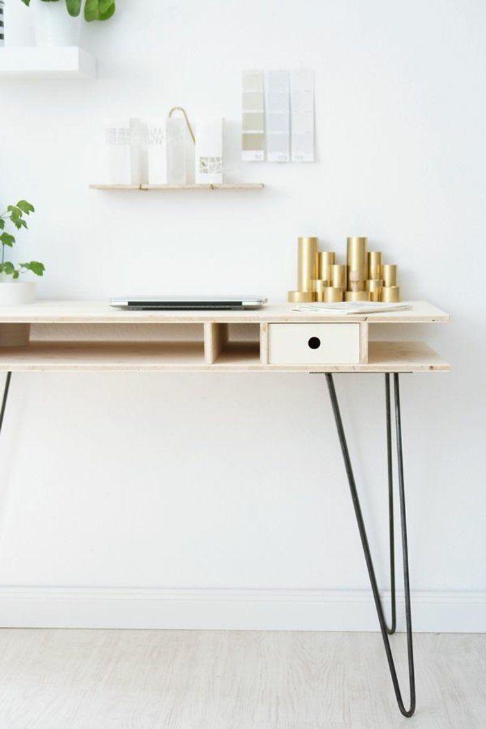 DIY Schreibtisch im skandinavischen Stil