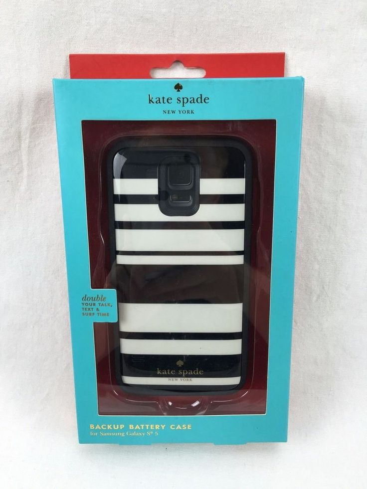 Samsung Galaxy S5 Kate Spade Extra Battery Power Case 29 Hour Talk Time #KateSpade