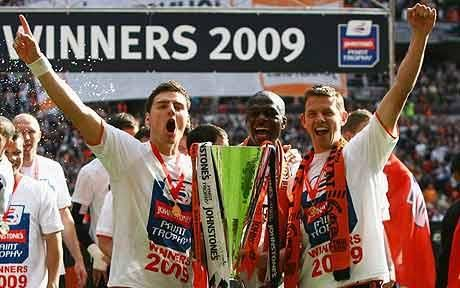 Luton Town FC, Johnstone's Paint Trophy winners 2009, Chris Martin, Claude Gnapka, Tommy Craddock