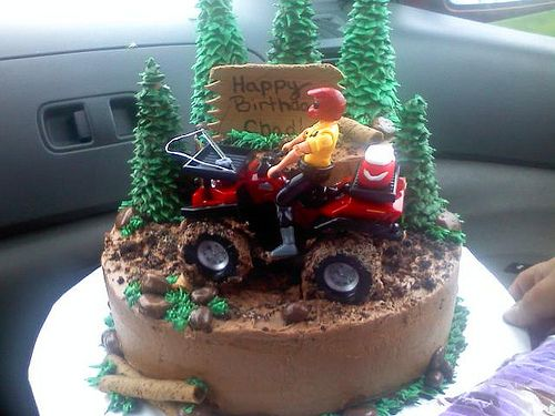 4 wheeler birthday cake