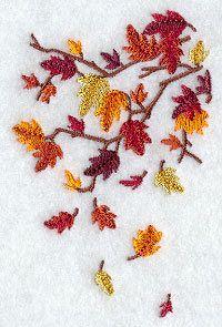Autumn Towel - Leaves Towel - Embroidered Towel -  Flour Sack Towel - Hand Towel - Bath Towel - Apron - Fingertip Towel by misty1718 on Etsy
