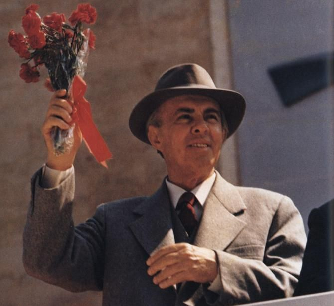 Enver Hoxha - Premier of the People's Socialist Republic of Albania and General Secretary of the Party of Labour of Albania.
