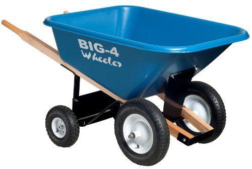 Big 4 Wheeler Heavy-Duty Wheelbarrow, 8 Cubic Feet, 2015 Amazon Top Rated Wheelbarrows & Replacement Parts #Lawn&Patio