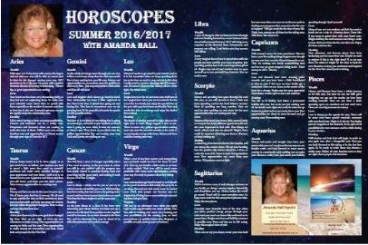 Welcome to the summer Stars with Amanda Hall Psychic Check out the Summer Edition Whitelight Magazine 2016/17  https://issuu.com/whiltelightmagazine/docs/summer_2016-2017/30