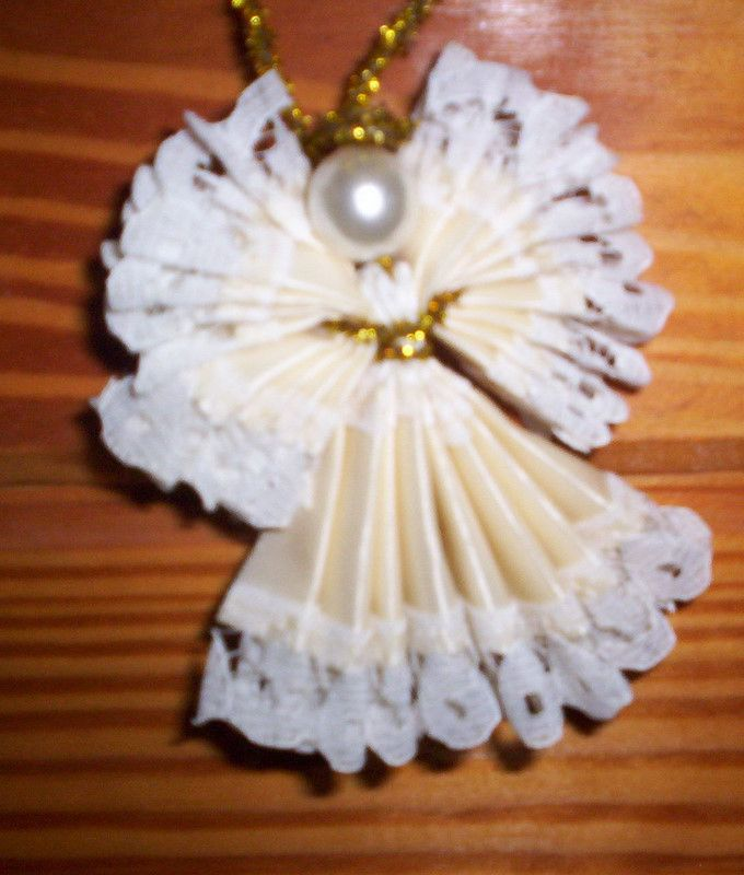 How To Make Christmas Angels Made Out Of Lace Ribbon ...