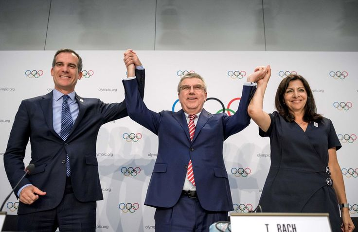 As part of the deal with the International Olympic Committee that was announced Monday, Paris will be awarded the 2024 Olympics.