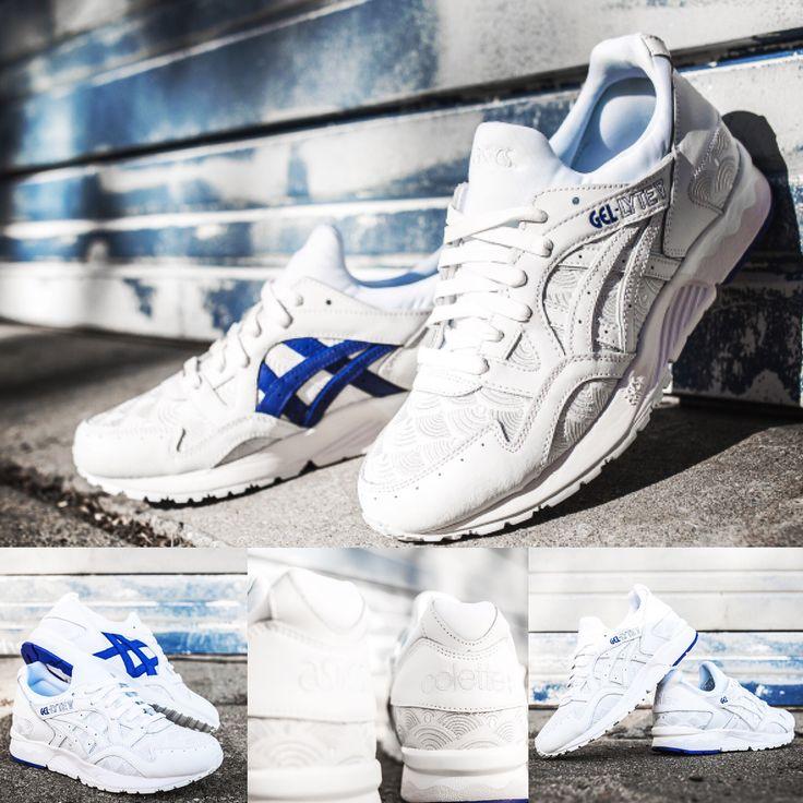 """Colette & Asics Gel Lyte V """"Yukata"""" - released on October 22, 2016 #colette #asics #gellytev #weartesters #highsnobiety #hypebeast #juiceonline #sneakernews #yukata  #japan  #whitesky #sneakers"""