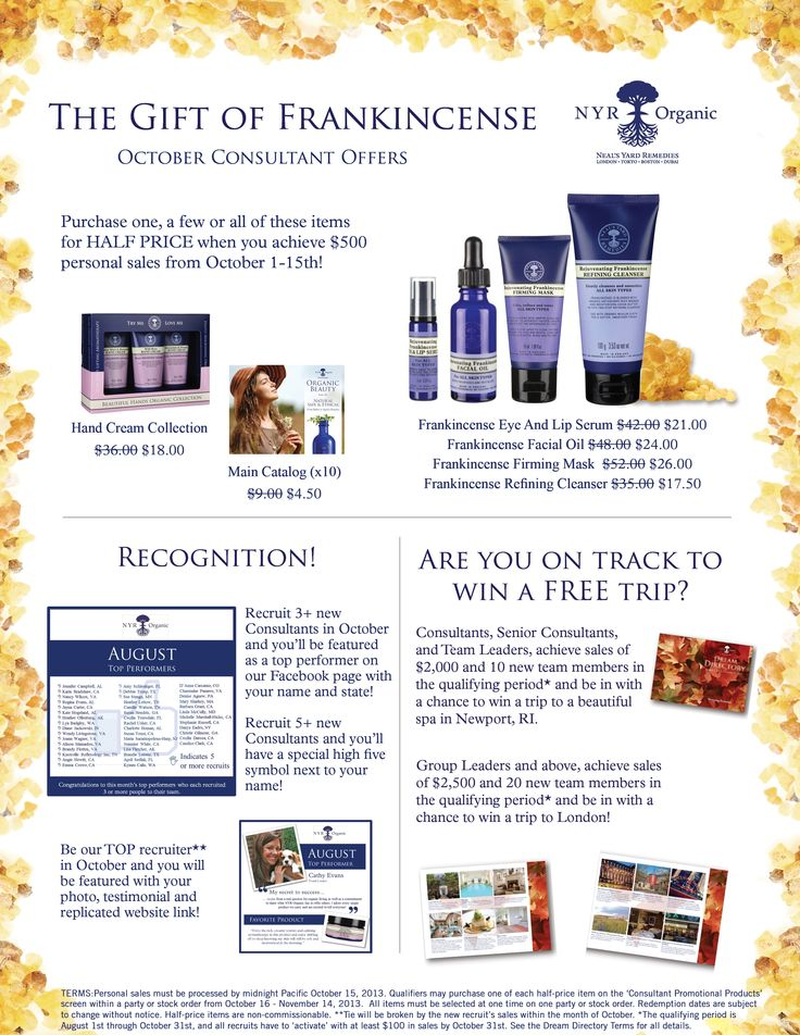 Become a NYR Organic Consultant. Monthly specials offered. To join my team go to: www.nyrorganiclady.com to sign up.