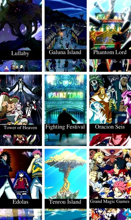 Fairy tail ▲ My favorite arc is the Grand Magic Games. Which one is yours?