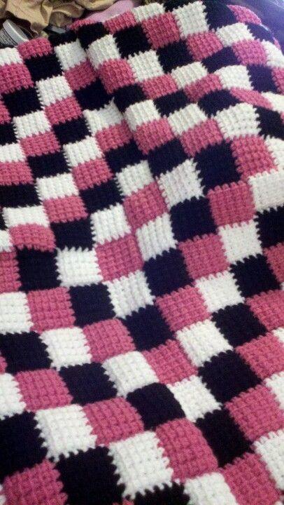 My 1st entrelac crochet baby blanket Staciyarns ...