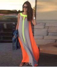 Женщины Лето Boho Длиной Макси Платье для Торжеств и Вечеринок Пляж Шифоновое Платье(China (Mainland))