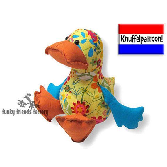 Dilby Duck Knuffelpatroon PDF van FunkyFriendsFactory nu ook op Etsy!