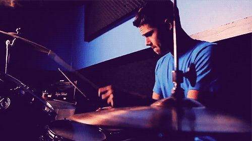 Zach playing the drums... I think I want him to be in a band...?