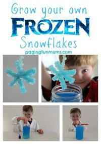Grow your own Frozen themed Snowflakes - Science and fun rolled into one! | Frozen Activities | Frozen Crafts | Frozen DIY |