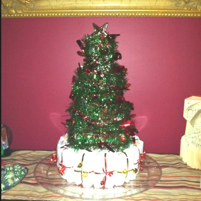 Christmas Tree Diaper Cake!