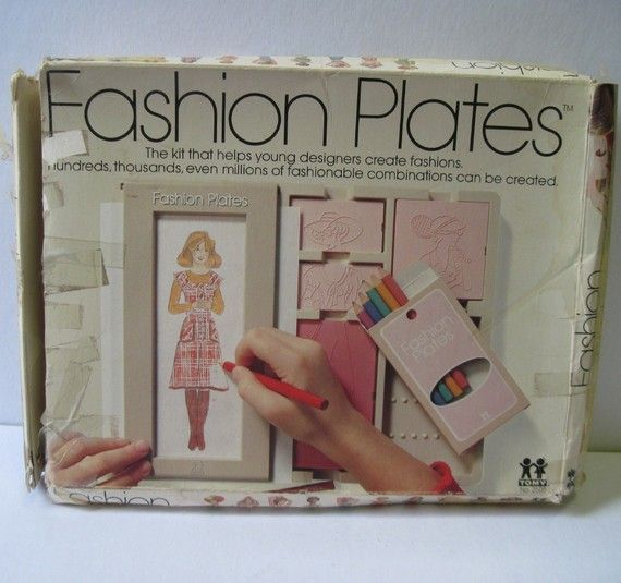 I so thought i was going to be the next great fashion designer  Project Runway here I come  1970 FASHION PLATES for young clothing designers