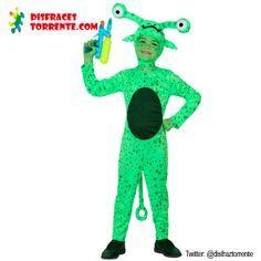 Disfraz de extraterrestre para niños Un disfraz de marciano extraterrestre que llega de otro planeta para pasárselo bien en cualquier fiesta...