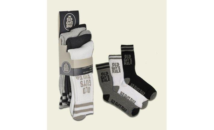Old Guys Rule Sport Socks x 3