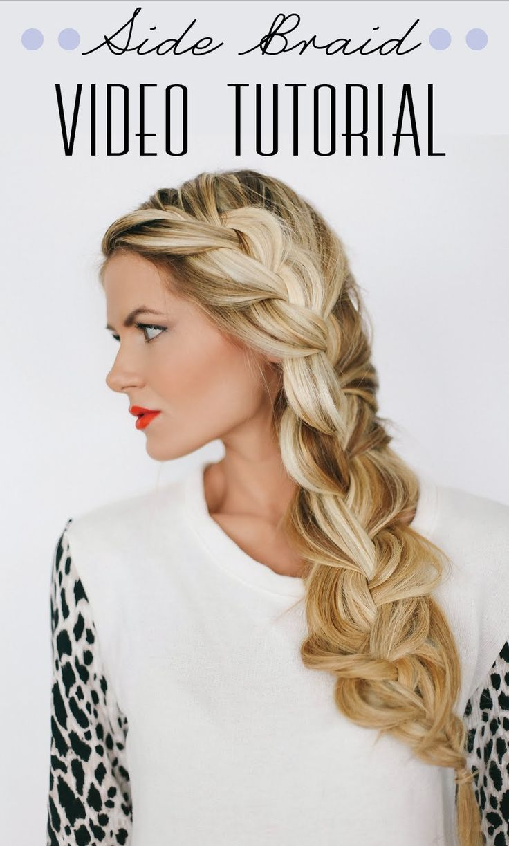 Side Braid Tutorial by Barefoot Blonde - Love this braid! May have to think about extensions.