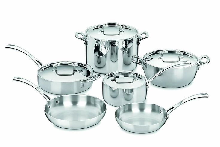 Cuisinart fct10 french classic triply stainless 10piece
