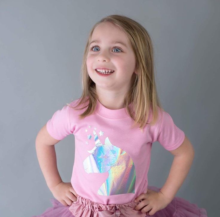 Girls Unicorn T-shirt, unicorn party, girls unicorn party outfit