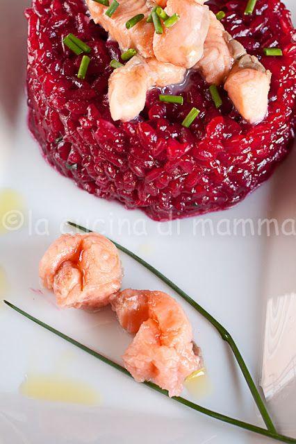 Risotto karkadè e salmone