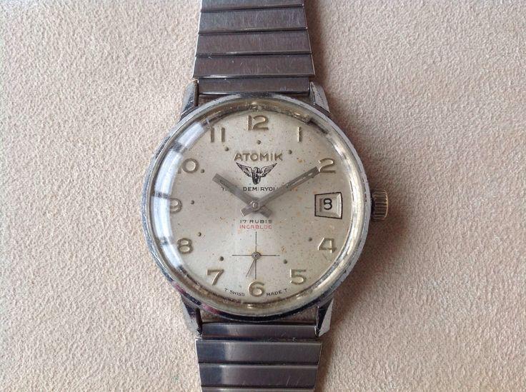 Atomic Hand Winding Watch, Swiss Made