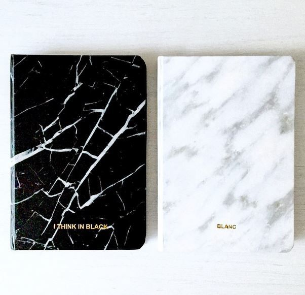 #marble #notebooks #stationery #luxe #blanc #noir #monochrome