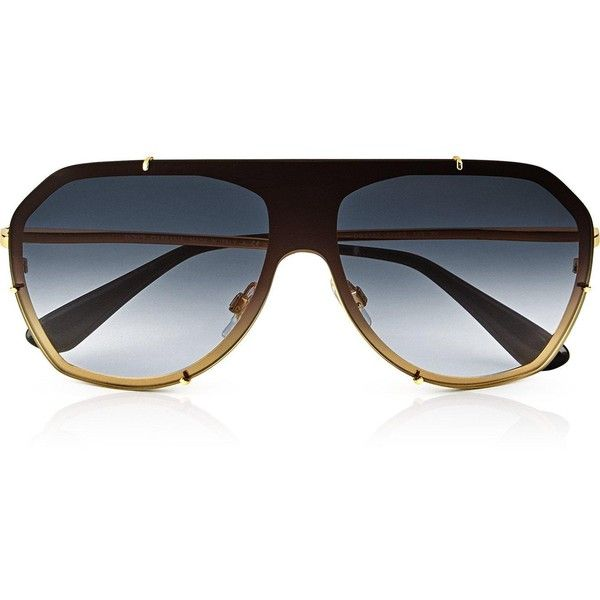 Dolce & Gabbana Oversized Aviator Sunglasses ($245) ❤ liked on Polyvore featuring accessories, eyewear, sunglasses, gold, aviator glasses, beach sunglasses, dark sunglasses, dark lens sunglasses and oversized sunglasses