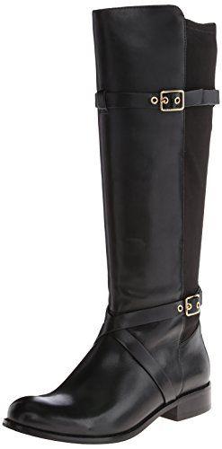 Cole Haan Women's Dorian Stretch Riding Boot,Black,10 B US
