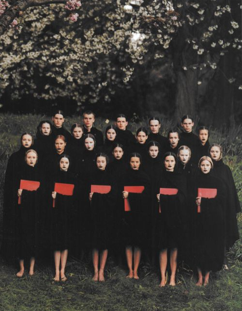 The Choir, photographed by Phil Poynter for Dazed and Confused, 1999 All clothes by Raf Simons
