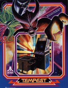 Tempest is an arcade game by Atari Inc., originally designed and programmed by Dave Theurer. Released in October 1981,[1] it was fairly popular and had several ports and sequels. The game is also notable for being one of the first video games with a selectable level of difficulty (determined by the initial starting level). The game is a tube shooter, a type of shoot 'em up where the environment is fixed and viewed from a three-dimensional perspective.