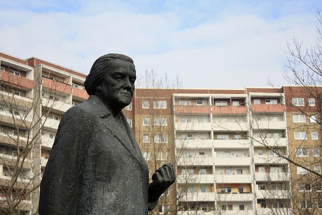 Clara Zetkin memorial in Ahrensfelde.  Zetkin initiated International Women's Day in 1910.