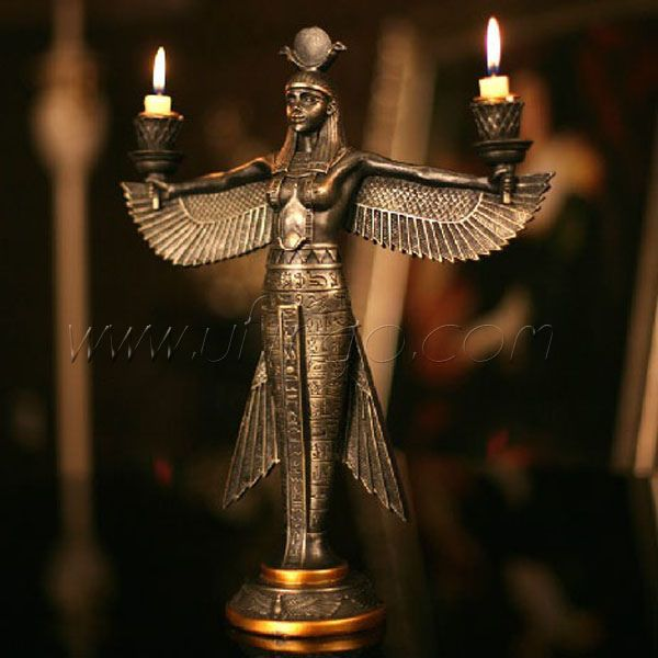 Egyptian Goddess Isis statue | Isis Goddess Candlestick | Flickr - Photo Sharing!