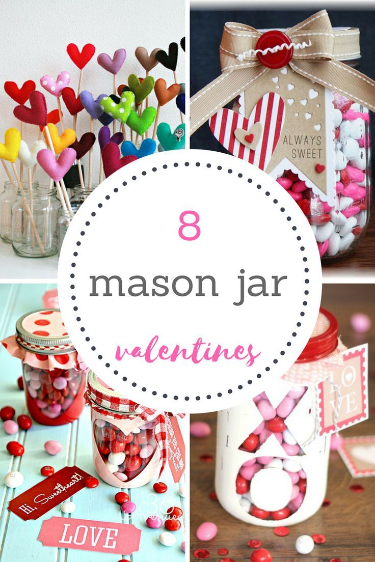 Quick and easy valentine crafts - 8 Mason Jar Valentines Quick Craftsdiy