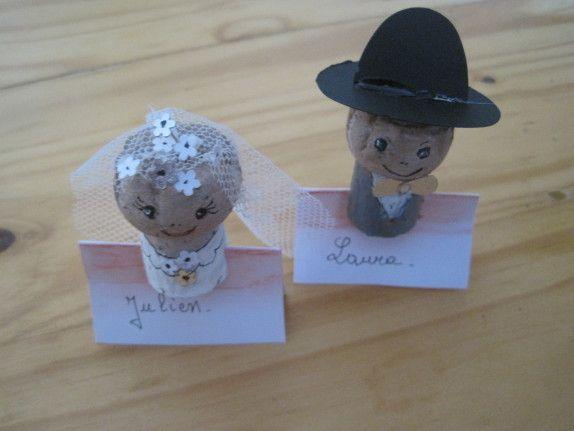 Mariés en forme de bouchon