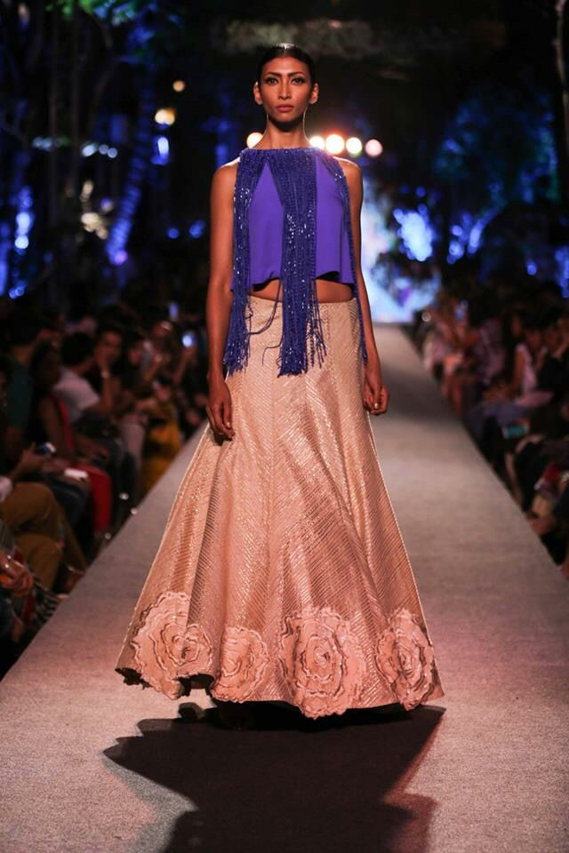 Lakme Fashion Week Summer 2015 - Manish Malhotra Blue Runway
