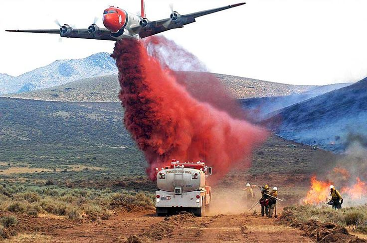 Close, precision aerial fire fighting