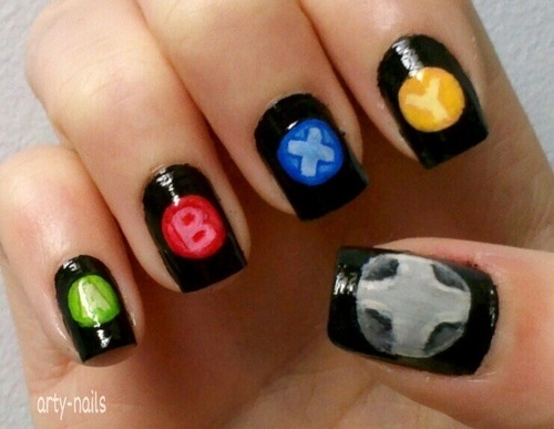 78 best gamer nail art images on pinterest make up nailart and xbox nails prinsesfo Images