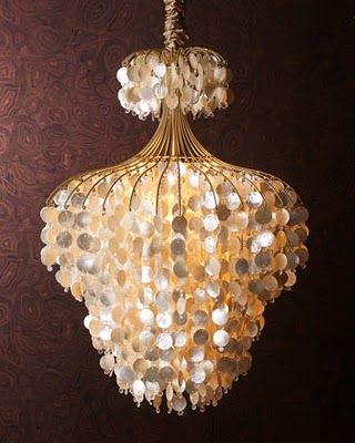 Dwellings By DeVore: Capiz Shell Chandeliers