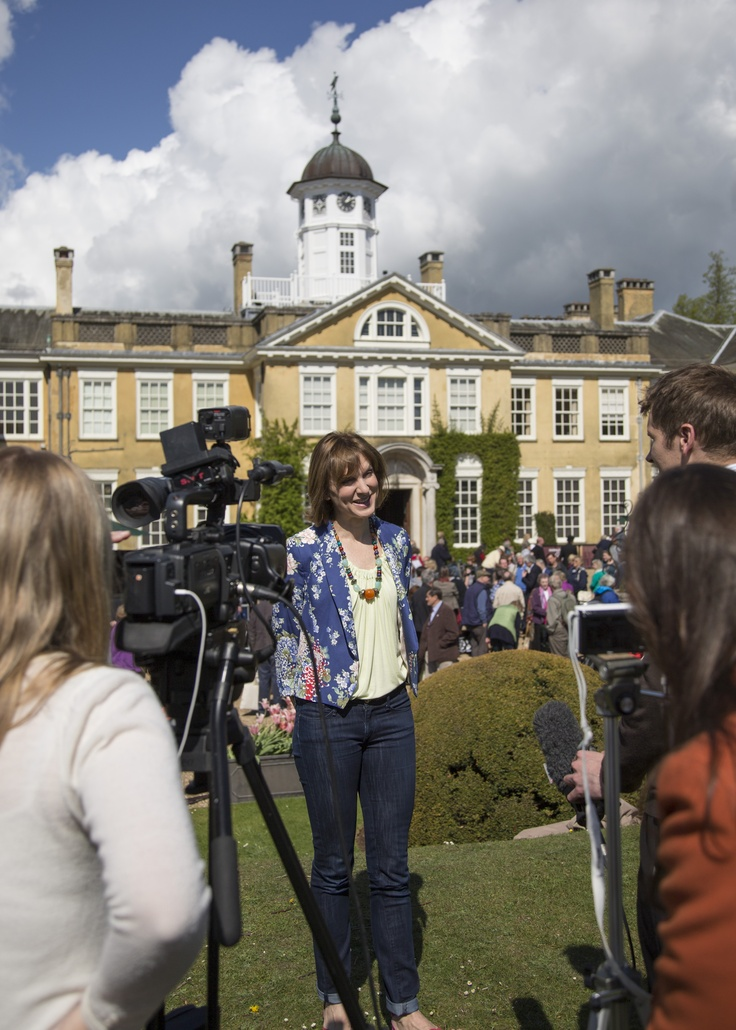 Fiona Bruce and the BBC's Antiques Roadshow visit Polesden Lacey in Surrey for the 2013 series © Eddie Hyde