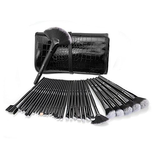 Makeup Set, USpicy Brushes Cosmetics Professional Essential 32-Piece Make Up Brush Kits with Travel Pouch USpicy www.amazon.co.uk/...